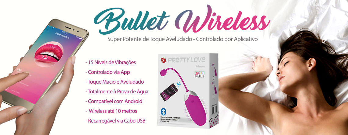 Bullet Wireless Super Potente de Toque Aveludado