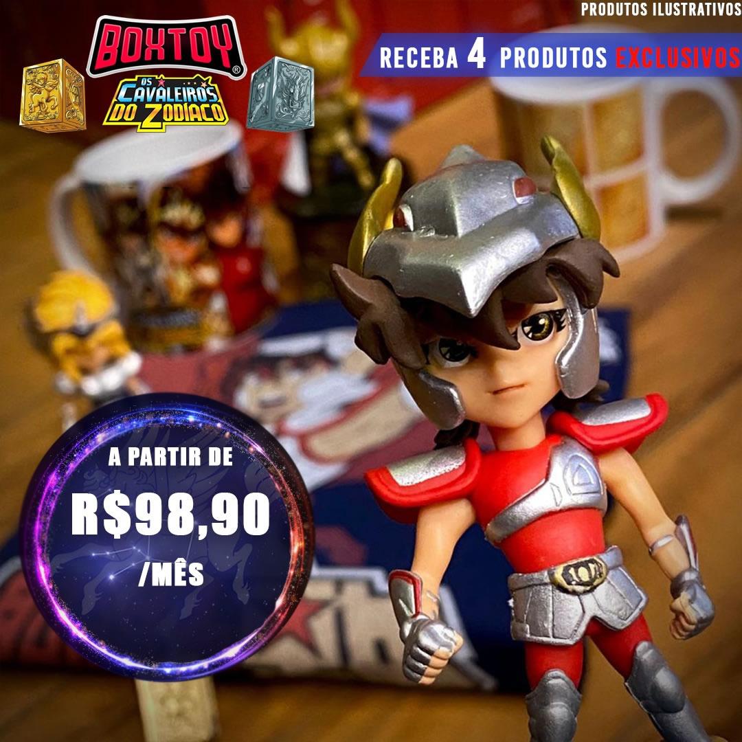 Cavaleiros do Zodiaco 01 Funko + 4 produtos exclusivos