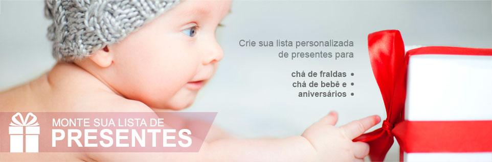 Lista de Presentes para Chá de Fralda, Chá de Bebê e Aniversários