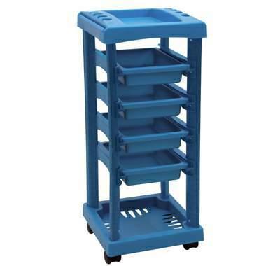carrinho auxiliar todo azul