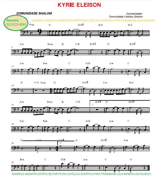 trombone catolico partituras catolicas gratis partitura da kyrie eleisson loja mineira do musico