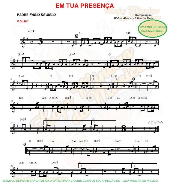 violino partitura catolica partitura gratis exemplo loja mineira do musico