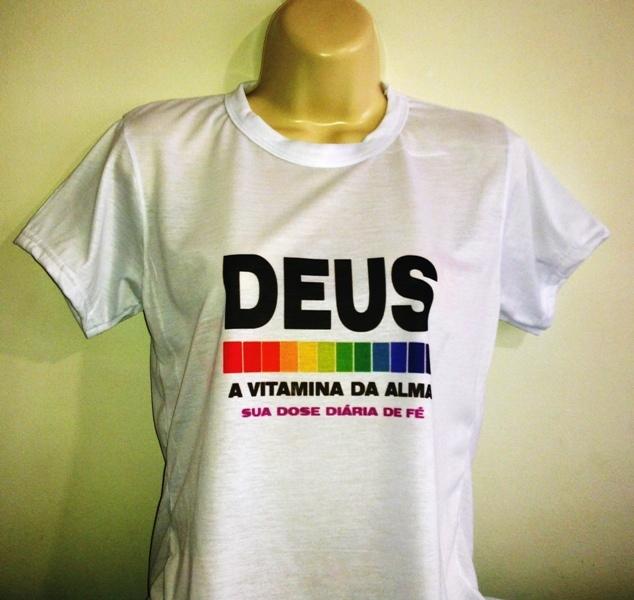 Camisa Baby look Poliéster com Algodão DEUS