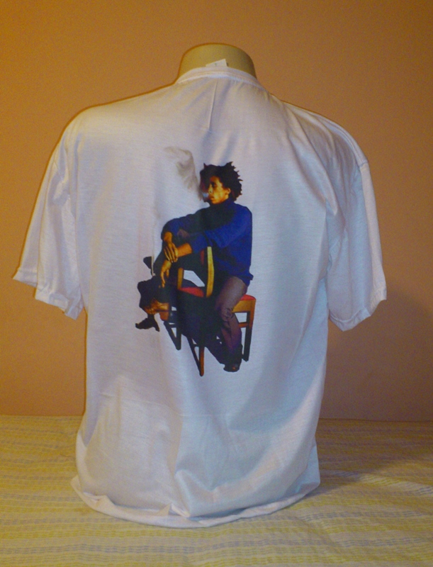 Camisa em malha fria Poliéster Bob Marley na Cadeira