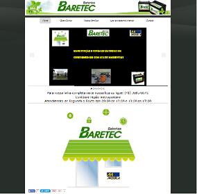 Página da Baretec