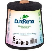 FIO PARA ARTESANATO EUROROMA 6 - 610m - COR PRETO