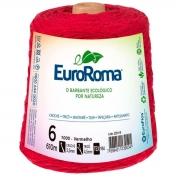 FIO PARA ARTESANATO EUROROMA 6 - 610m - COR VERMELHO