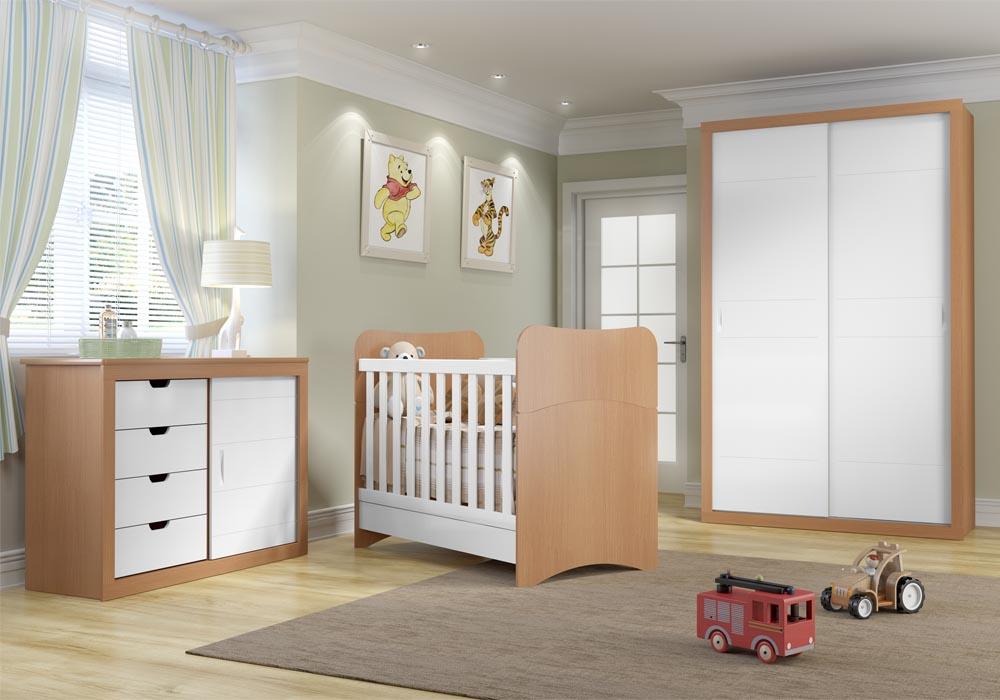 Quarto do beb� infantil Chantilly mel/branco - Multim�veis - Clik Baby - Quarto do bebe - M�veis infantil - M�veis infantis
