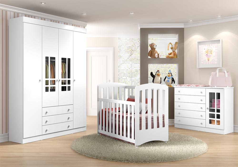 Quarto do beb� infantil Brigadeiro acetinado - Multim�veis - Clik Baby - Quarto do bebe - M�veis infantil - M�veis infantis