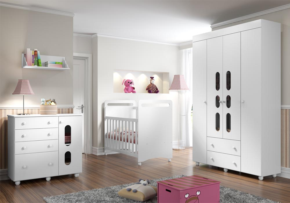 Quarto do beb� infantil Bala Plus - Multim�veis - Clik Baby - Quarto do bebe - M�veis infantil - M�veis infantis