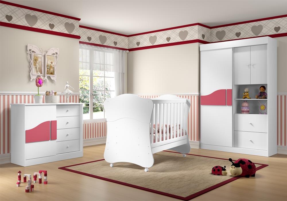 Quarto do beb� infantil Biscoito rosa - Multim�veis  - Clik Baby - Quarto do bebe - M�veis infantil - M�veis infantis