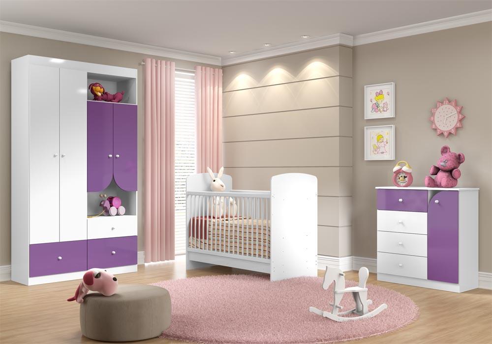 Quarto do beb� infantil Framboesa lil�s - Multim�veis - Clik Baby - Quarto do bebe - M�veis infantil - M�veis infantis