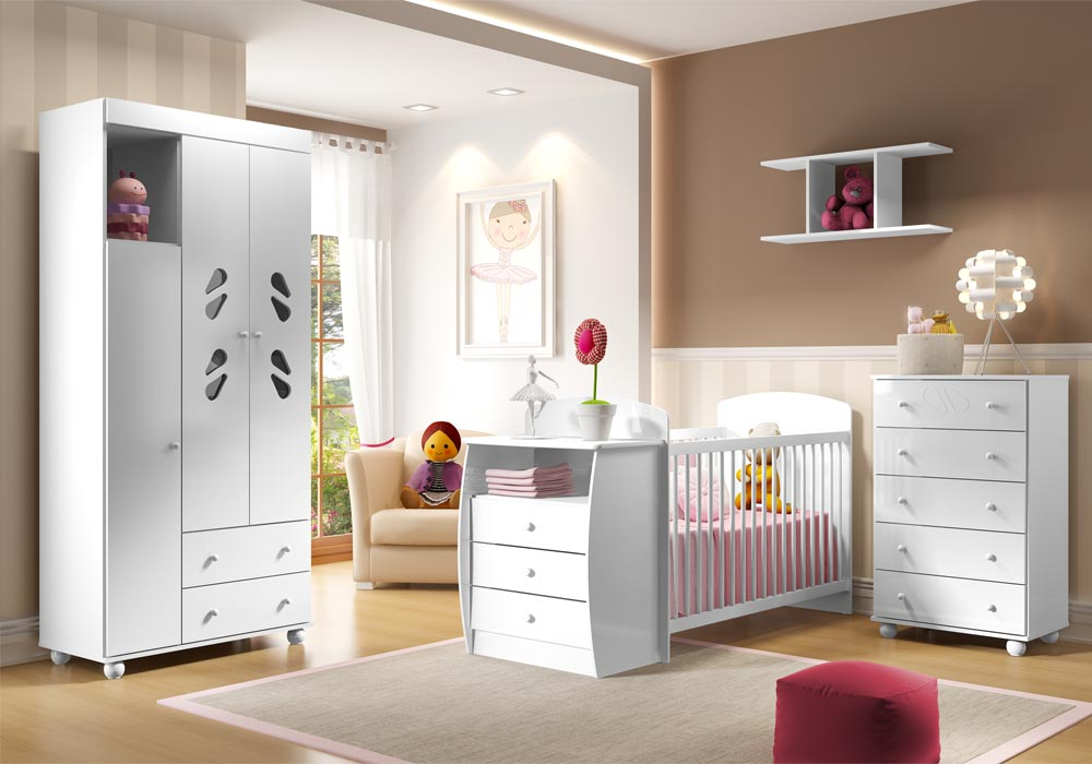 Quarto do beb� infantil Sorvete Seco Plus - Multim�veis - Clik Baby - Quarto do bebe - M�veis infantil - M�veis infantis