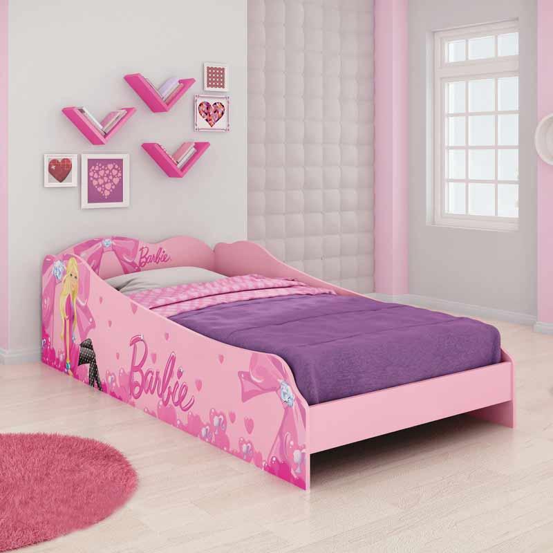 Cama infantil solteiro barbie plus pura magia - Dosel para cama infantil ...