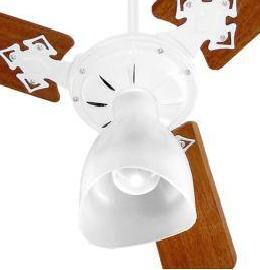 Ventilador de Teto 3 Pás Light Lustre Aberto