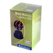 BOLA MALUCA COLORIDA GIRATORIA PROFISSIONAL TURBO LED