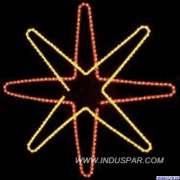 Figura de Natal Iluminada - Estrela com 8 pontas