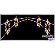 Painel de Natal PN-028-FE Iluminado Led - Flocos Duplo- MED 1,00 X 3,00 MT