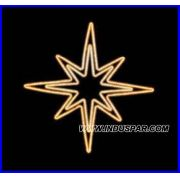Estrela Iluminada 8 Pontas Dupla PN-096-FE - MED 1,50 MTS