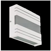 Arandela Retangular em Alumínio com Vidro - REF 814 Branco