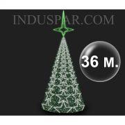 Árvore de Natal Gigante 36 Metros Modelo MADRID