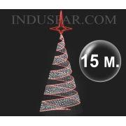 Árvore de Natal Gigante 15 Metros Modelo Espiral Led
