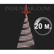 Árvore de Natal Gigante 20 Metros Modelo Espiral Led