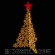Árvore de Natal Gigante  3 / 5 Metros Modelo Triplo Estrelas Led 220V