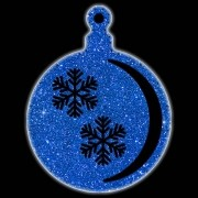 Bola Pingente Natal Gigante Iluminado LED Decoração Dia e Noite - BN03