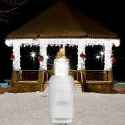 Cascata 100 LEDs Branca com 3,70 Metros 220V ( PISCA 4 FUNÇÕES ) - REF 1146