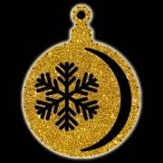 Bola Pingente Natal Gigante Iluminado LED Decoração Dia e Noite - BN02
