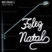 FIGURA ILUMINADA NATAL - BP-20 ORNATO BRAÇO DE LUMINARIA - MED 150x150