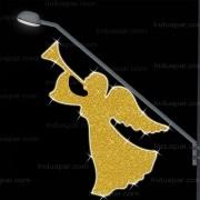 Anjo com Trompete Decoração de Natal Dia e Noite - BP-07 Med. 1,10 X 1,80 mts