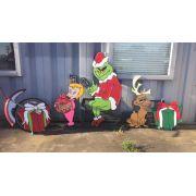 Grinch / Cindy Lou Who / Max e 2 pacotes de presentes artesanal