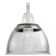 Lumin�ria Prism�tica 16 POL Acr�lico PS  com Alojamento Cone e Gancho - Kit 300W com L�mpada Ec�nomica FLC 85W Espiral - INDUSPAR