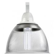 Lumin�ria Prism�tica 16 POL Acr�lico PS  com Alojamento Cone e Gancho - Kit 340W com L�mpada Ec�nomica FLC 85W 5U - INDUSPAR