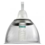 Lumin�ria Prism�tica 16 POL Acr�lico PS  com Alojamento Cone e Gancho - Kit 340W com L�mpada Ec�nomica ALUMBRA 85W Espiral - INDUSPAR