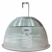 Lumin�ria Prism�tica 12 POL Acr�lico PS  com Alojamento Prato e Gancho - Kit 90W com L�mpada Ec�nomica FLC 25W Espiral - INDUSPAR