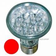 Lâmpada Par 20 Vermelha 1W 18 LEDs 127V