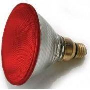 Lâmpada PAR 38 Halógena 75W / 120W E27 Vermelha
