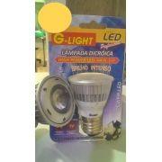 Lâmpada Super LED COB  3W Dicróica Branca Morno 3000K E27
