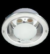 Lumin�ria de Embutir de 220MM em Aluminio, Redonda, para 2 L�mpadas de 25W, Soquete E27