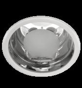 Lumin�ria de Embutir de 230MM em Aluminio Metalizado, Redonda, para 2 L�mpadas de 25W, com Vidro Rec