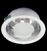 Luminaria de Embutir de 230MM em Aluminio Redonda para 2 l�mpadas de 25W
