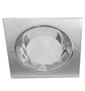 Lumin�ria de Embutir Quadrada 230X230MM, Aluminio Metalizado para 2 L�mpadas de 25W