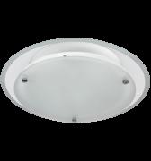 Lumin�ria de Sobrepor para 2 L�mpadas de 20W em Aluminio, Redonda, Modelo Sat�lite, Soquete E27