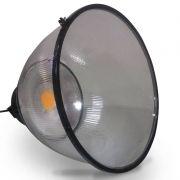 Luminária Industrial Led  50W COB Prismática com Lente Plana