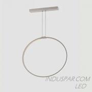 Luminária LED Geométrica 17W Pendente Facho 360º - 1700 Lúmens - PEND-17D-BQ 17W Ø 300mm