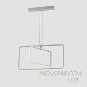 Luminária LED Geométrica 54W Pendente Facho 360º - 540 Lúmens - PEND-54E-BQ