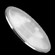 Luminária Prismática 12 Polegadas Lente Moldada Baixa Avulsa PS Cristal com Aro